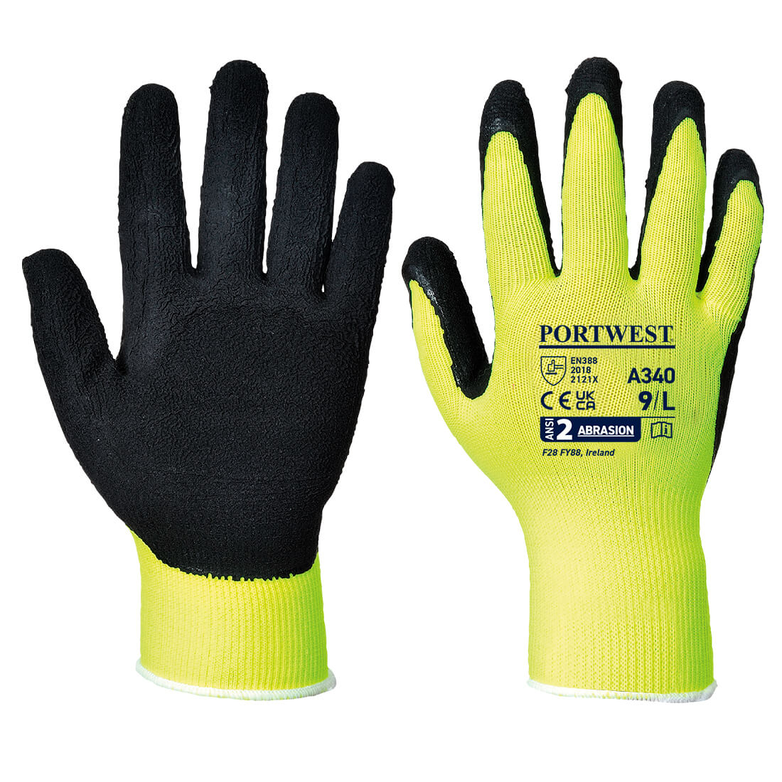 Hi-Vis Grip Glove Yellow XXLR