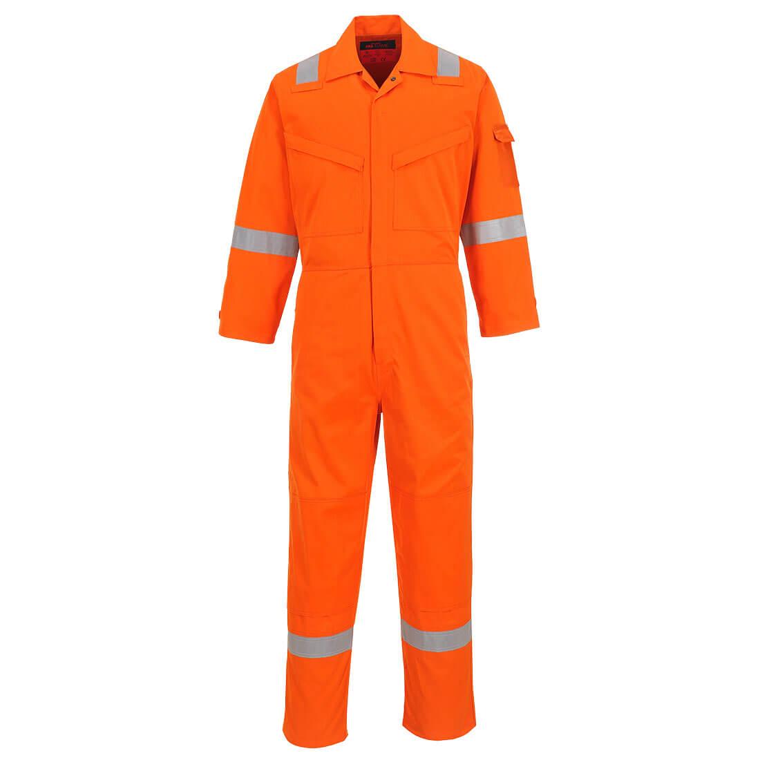 Araflame Silver Coverall Orange 48R