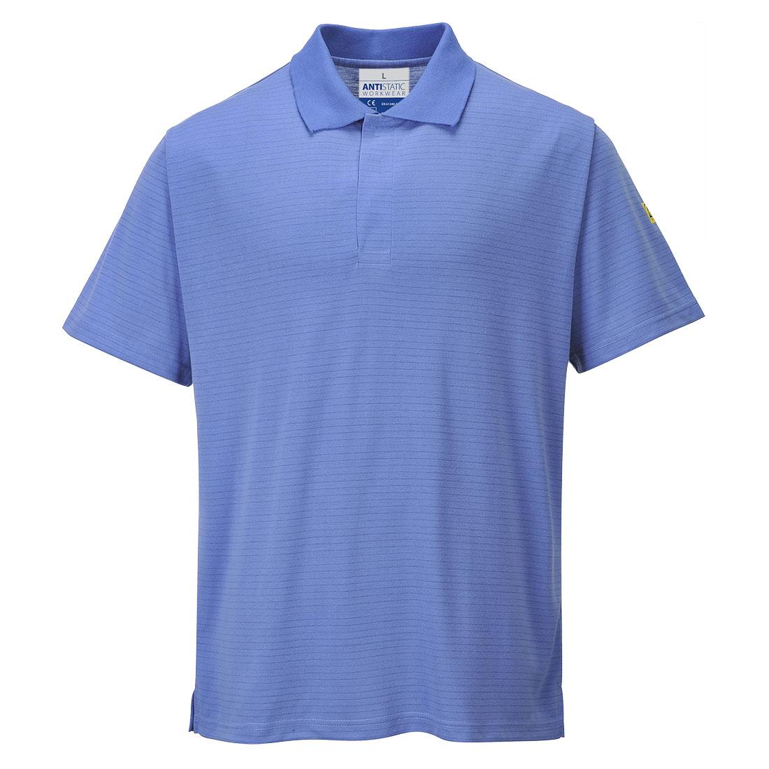 Antistatic ESD Polo Shirt Hospital Blue XXXLR