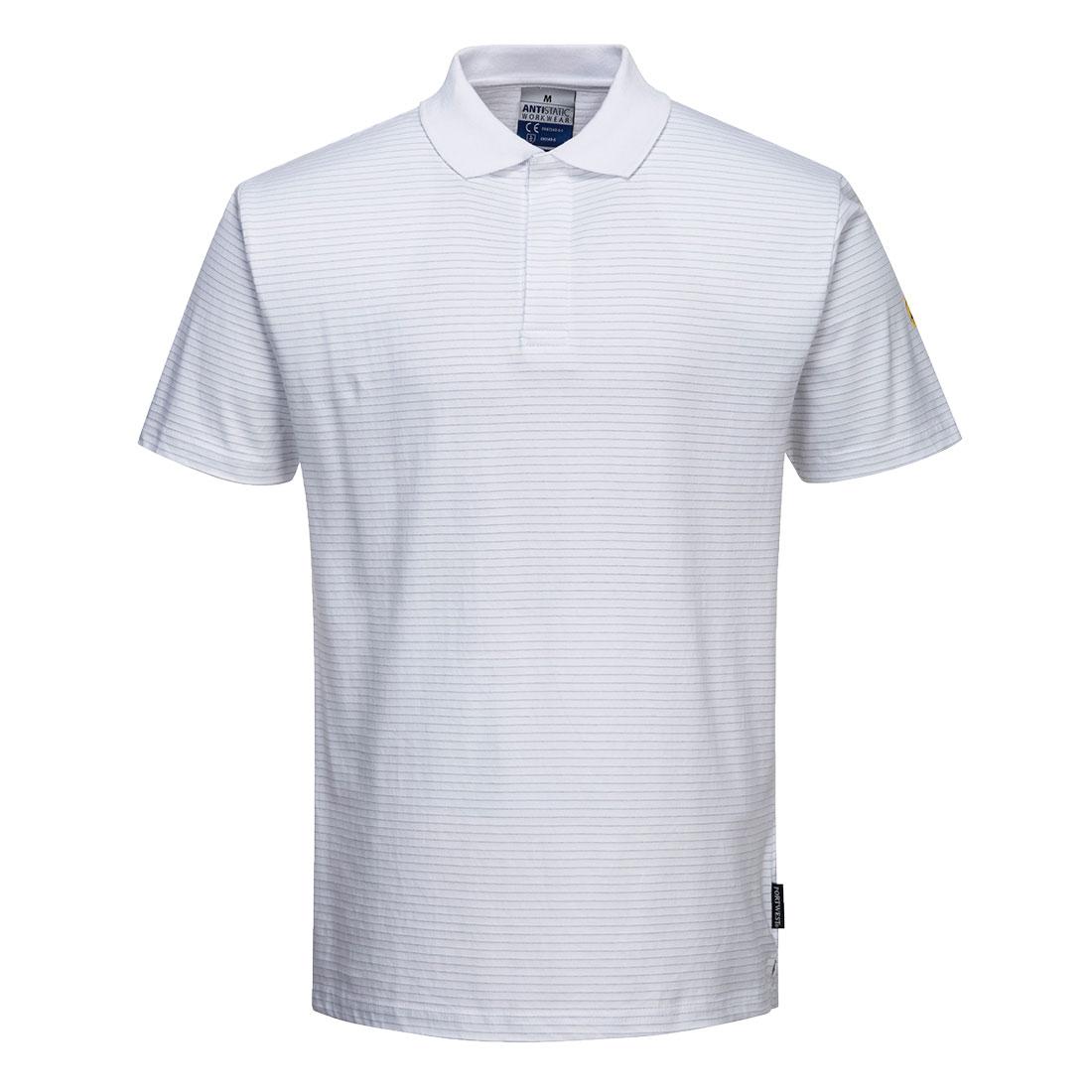 Antistatic ESD Polo Shirt White XS R