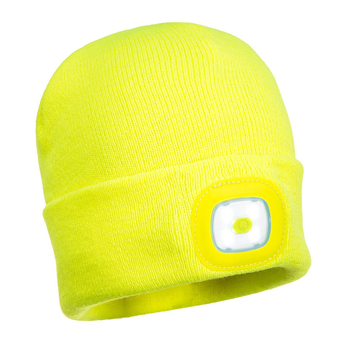 Rechargeable Twin LED Beanie Yellow