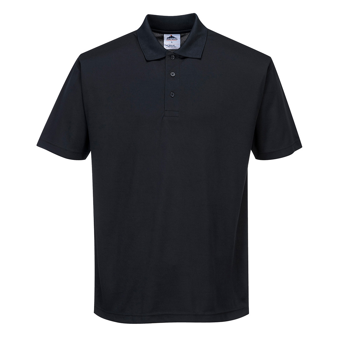 Polyester Polo Shirt Black SR