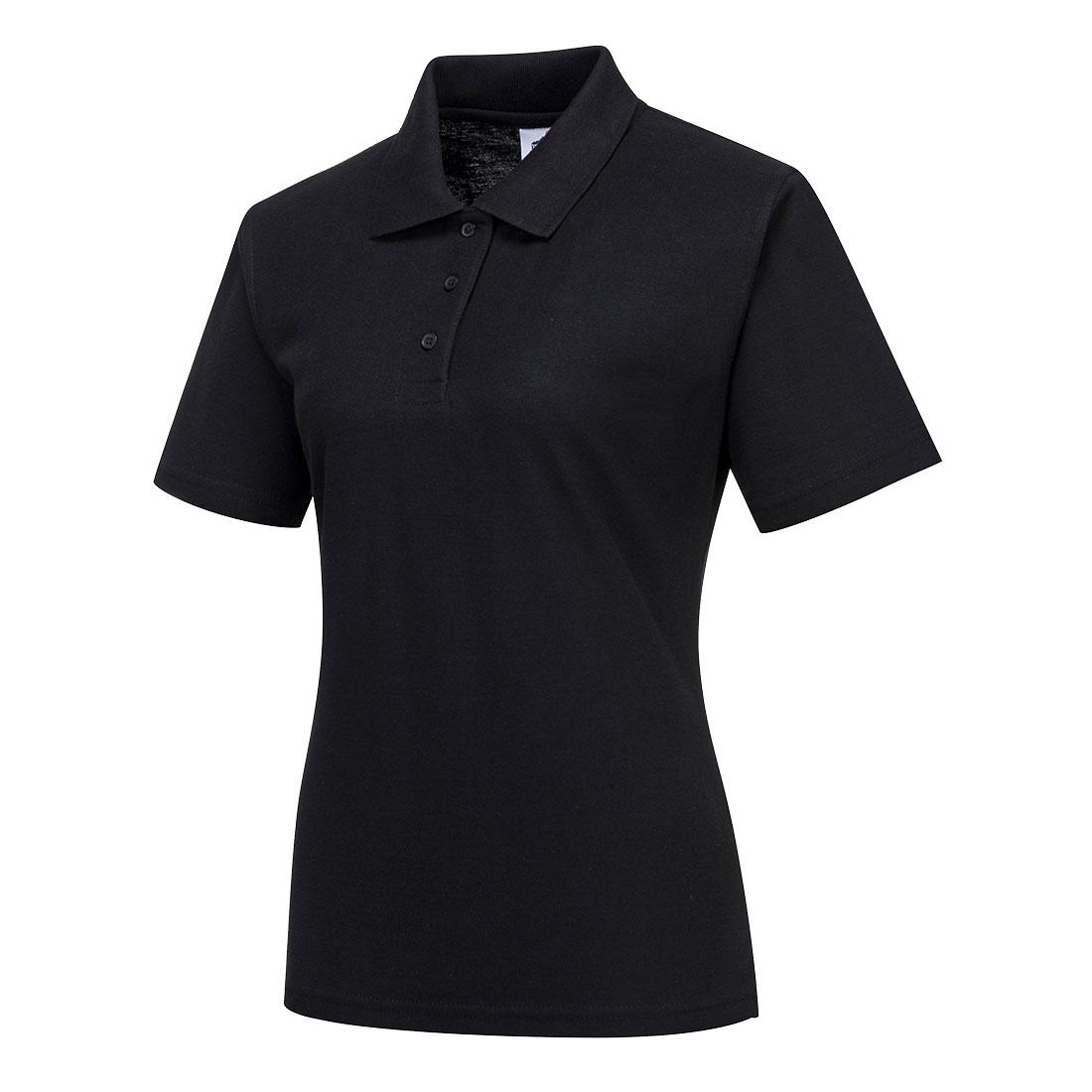 Ladies Polo Shirt Black XSR