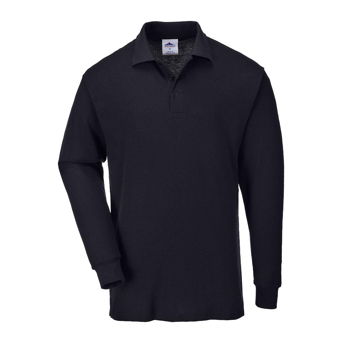Long Sleeved Polo Shirt Black LR