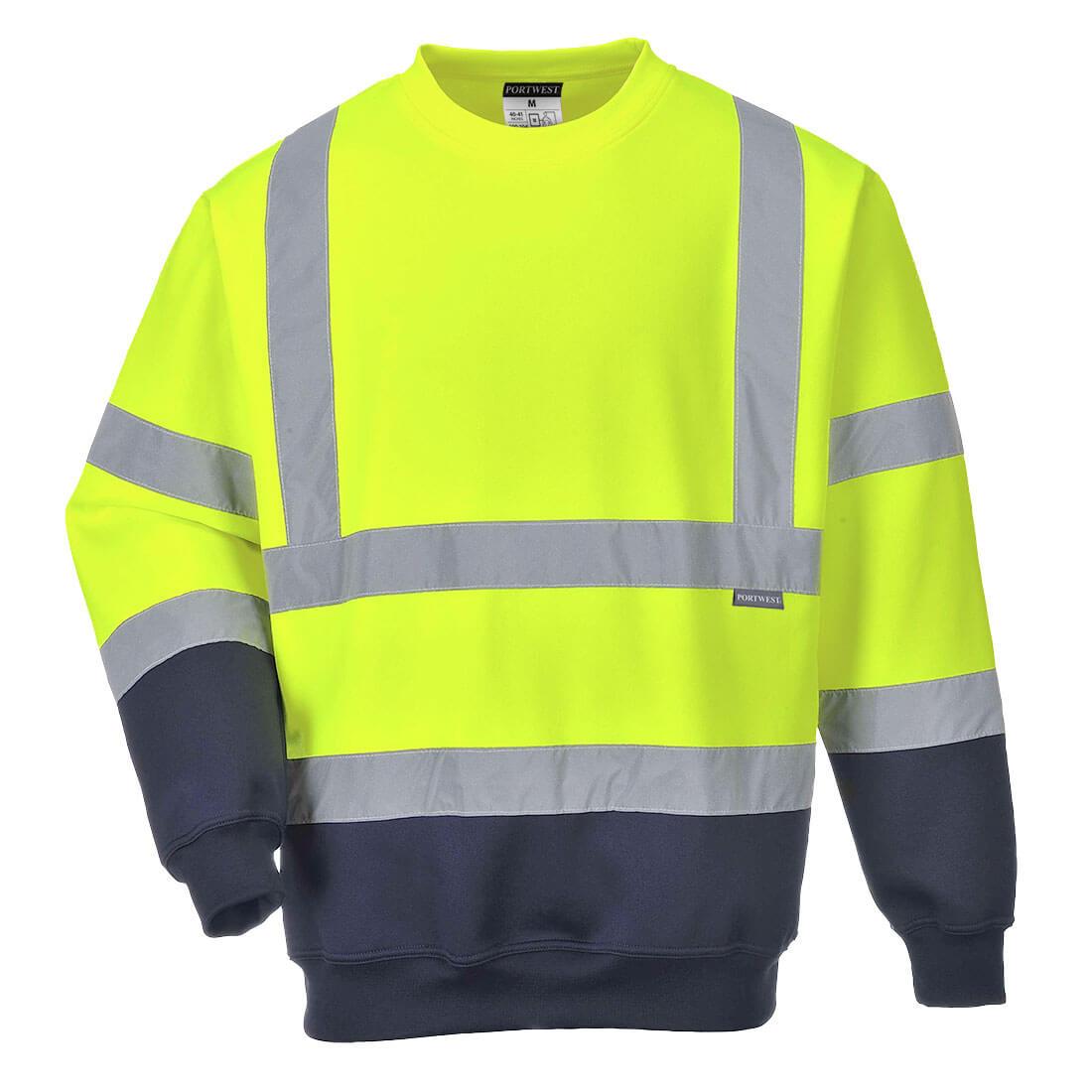 Hi-Vis 2-Tone Sweatshirt Yellow/Navy 3XLR