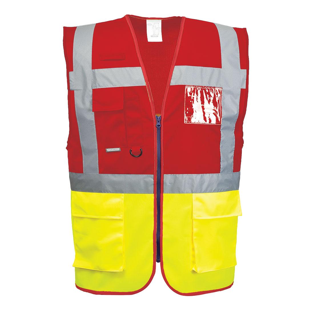 Paris Executive Vest Yellow/Red XL