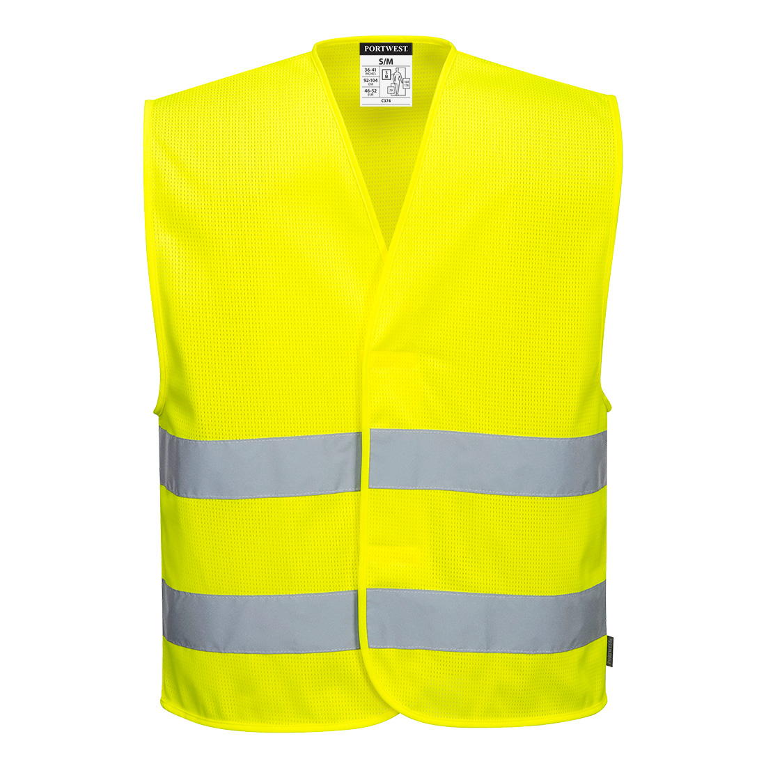 MeshAir Hi-Vis 2 Band Vest Yellow 4X5XR