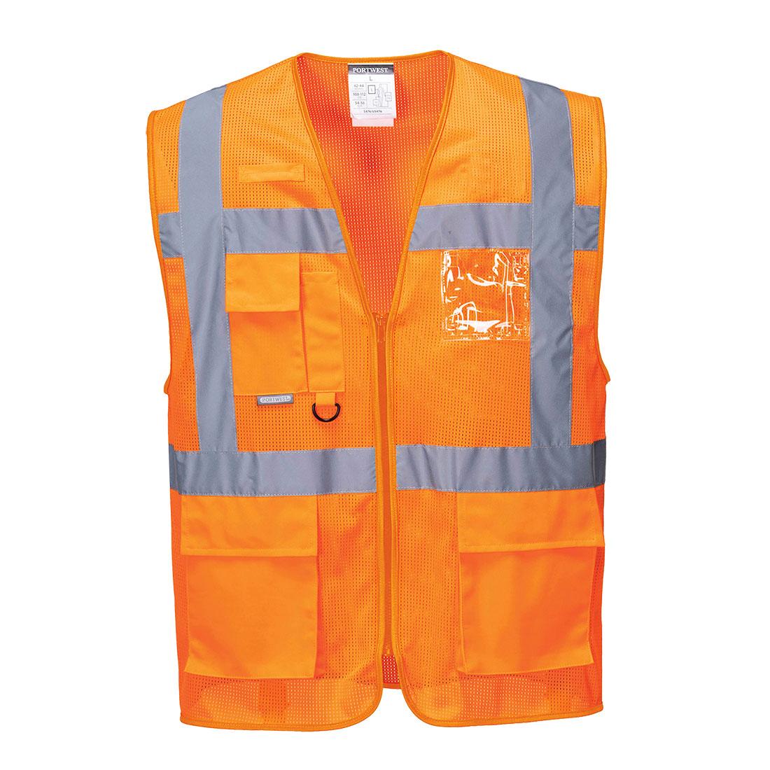 Athens MeshAir Executive Vest Orange MR