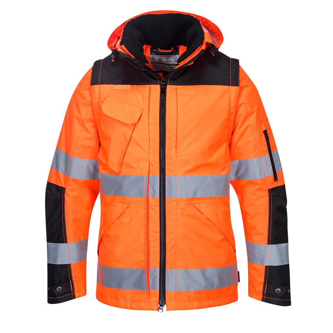 Pro Hi-Vis 3in1 Jacket Orange/Black XXXLR