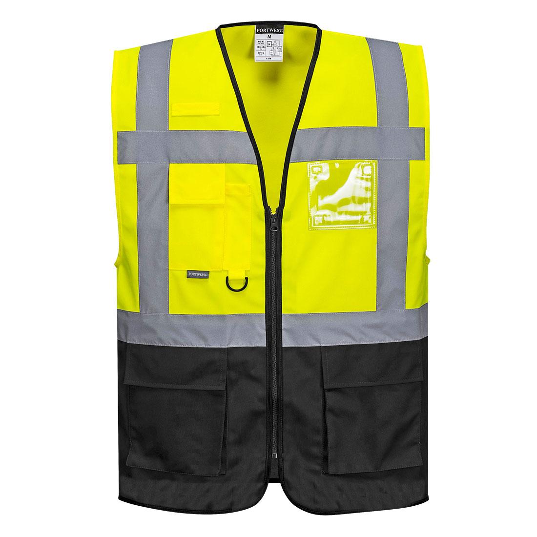 Warsaw Executive Vest Yellow/Black XXXLR