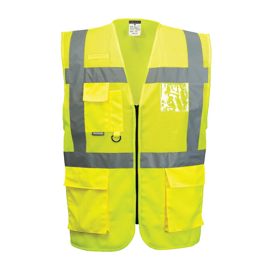 Madrid Executive Mesh Vest Yellow SR