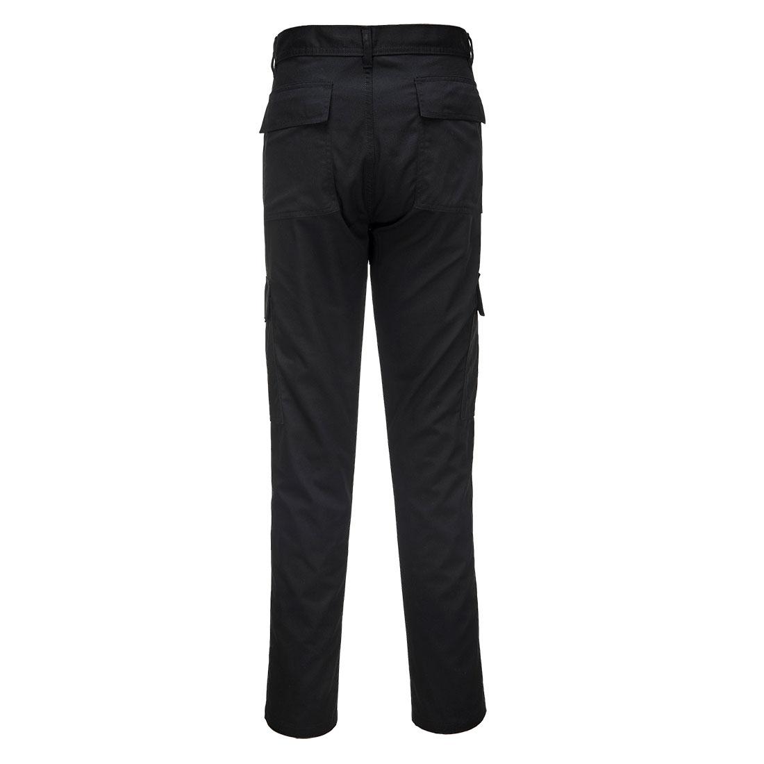 Slim Fit Combat Trousers Black 44R
