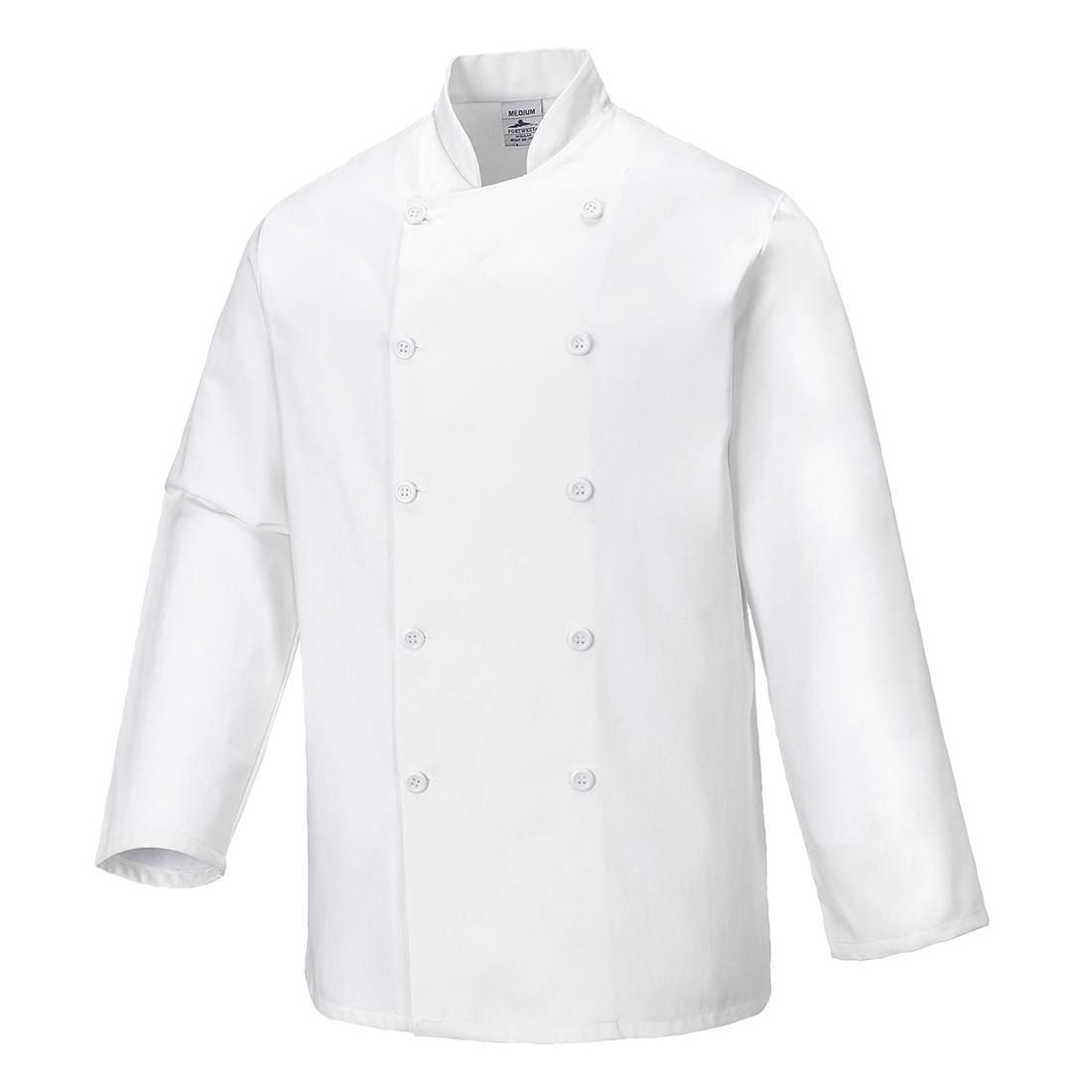 Sussex Chef Jacket White LR