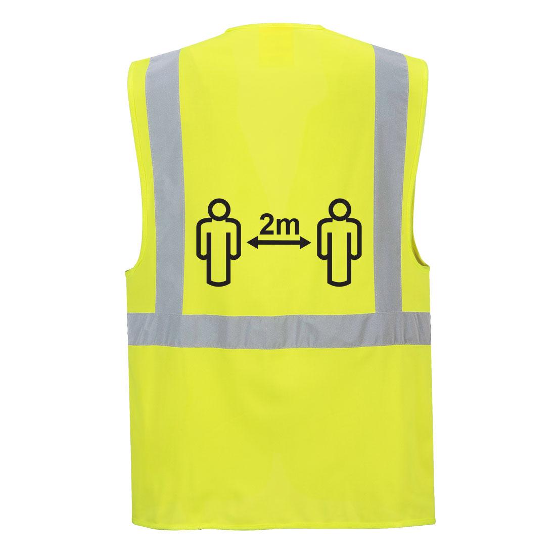 Social Distancing Exec Vest Yellow XXXL R