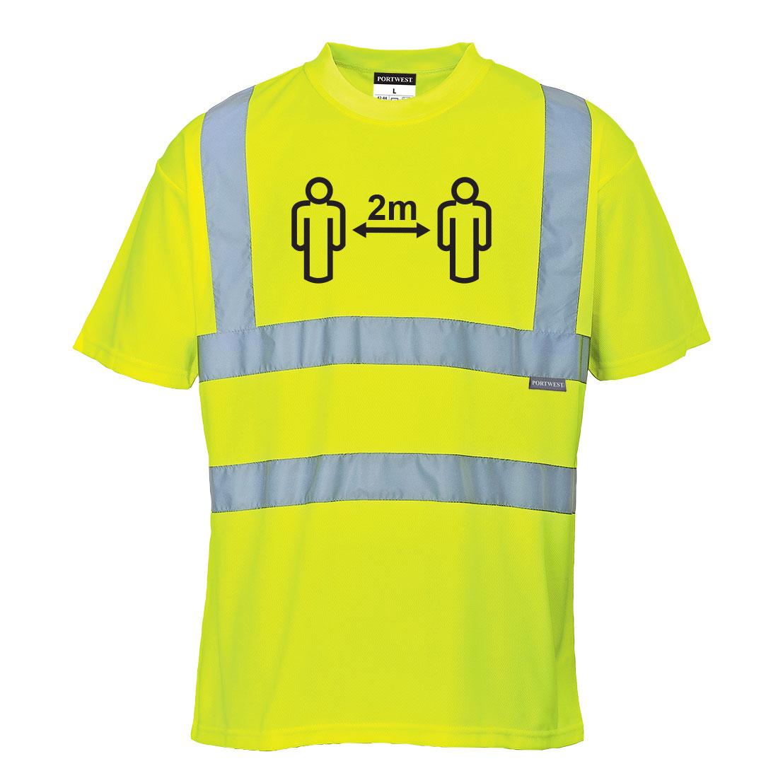 Social Distance Hi-Vis T Shirt Yellow XXL R