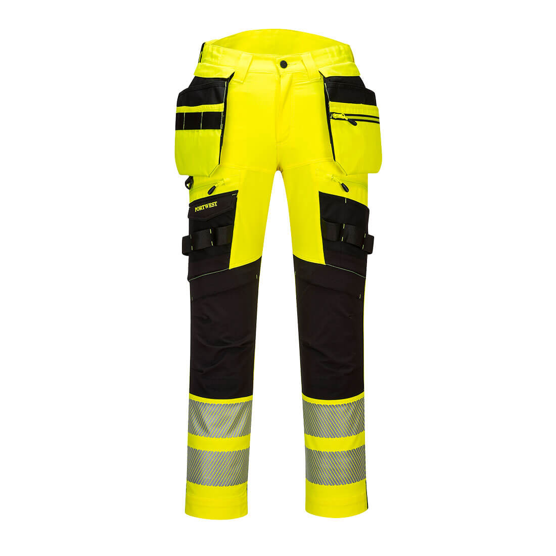 DX4 Hi-Vis Holster Trousers Yellow/Black 44 R