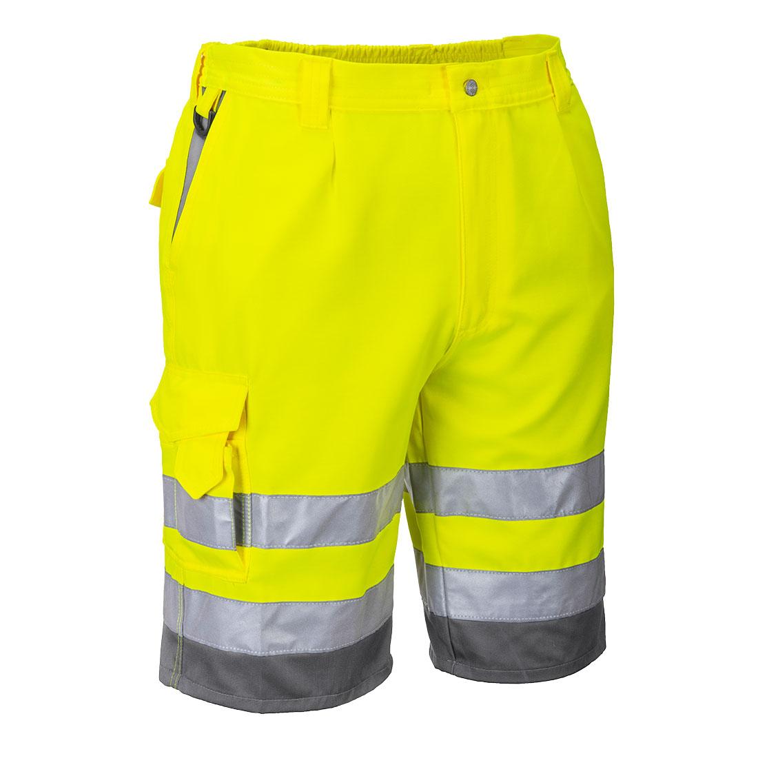 Hi-Vis P/C Shorts Yellow/Grey S