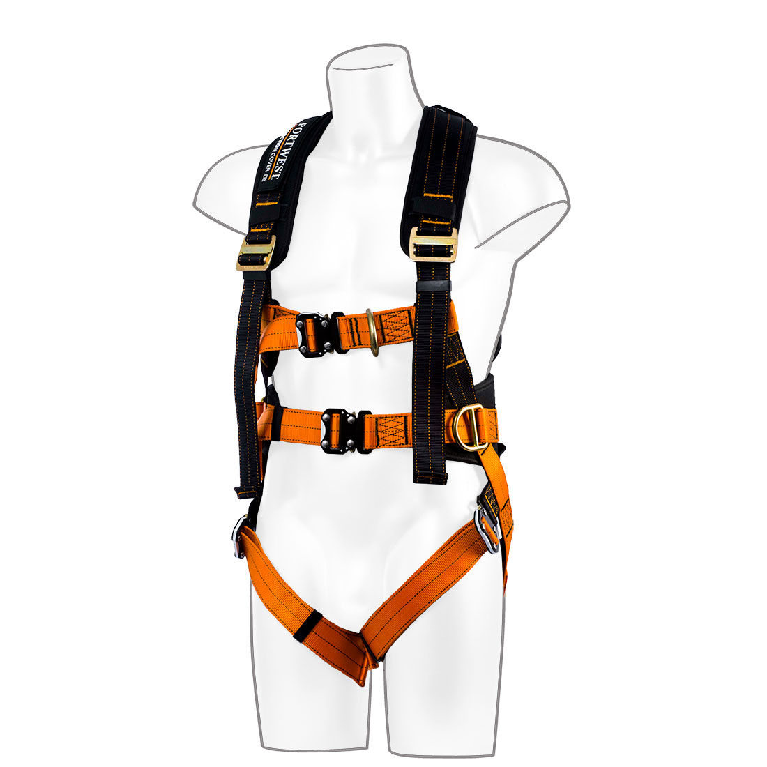 Ultra 3-Point Harness Black/Orange S/M/L