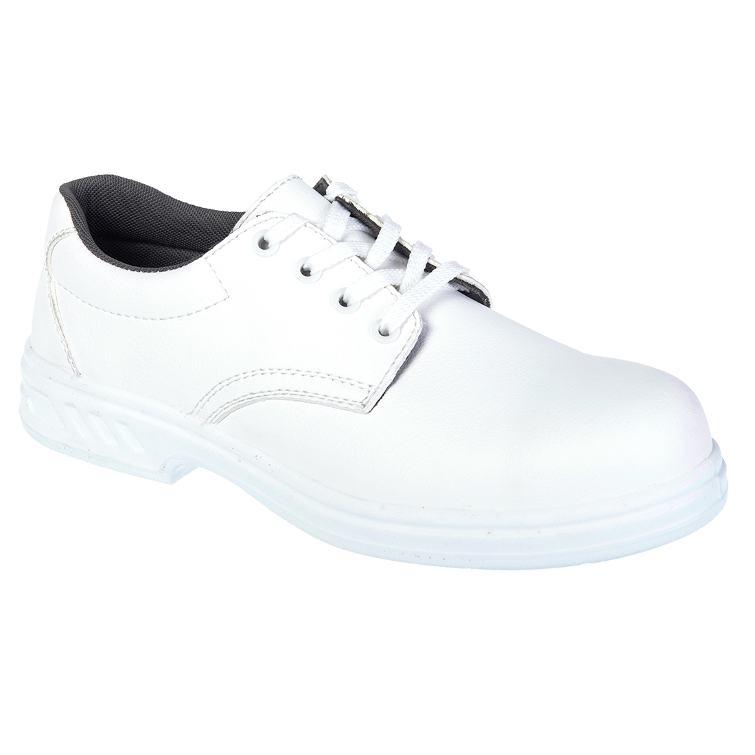 Laced Safety Shoe  S2 White 37