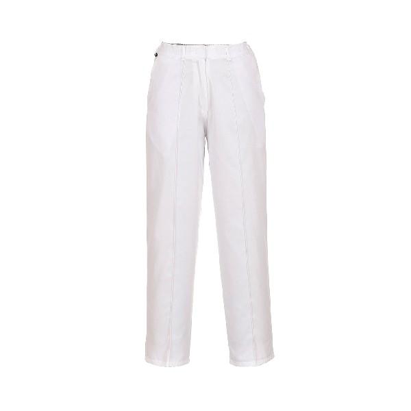 Ladies Elasticated Trousers White SR