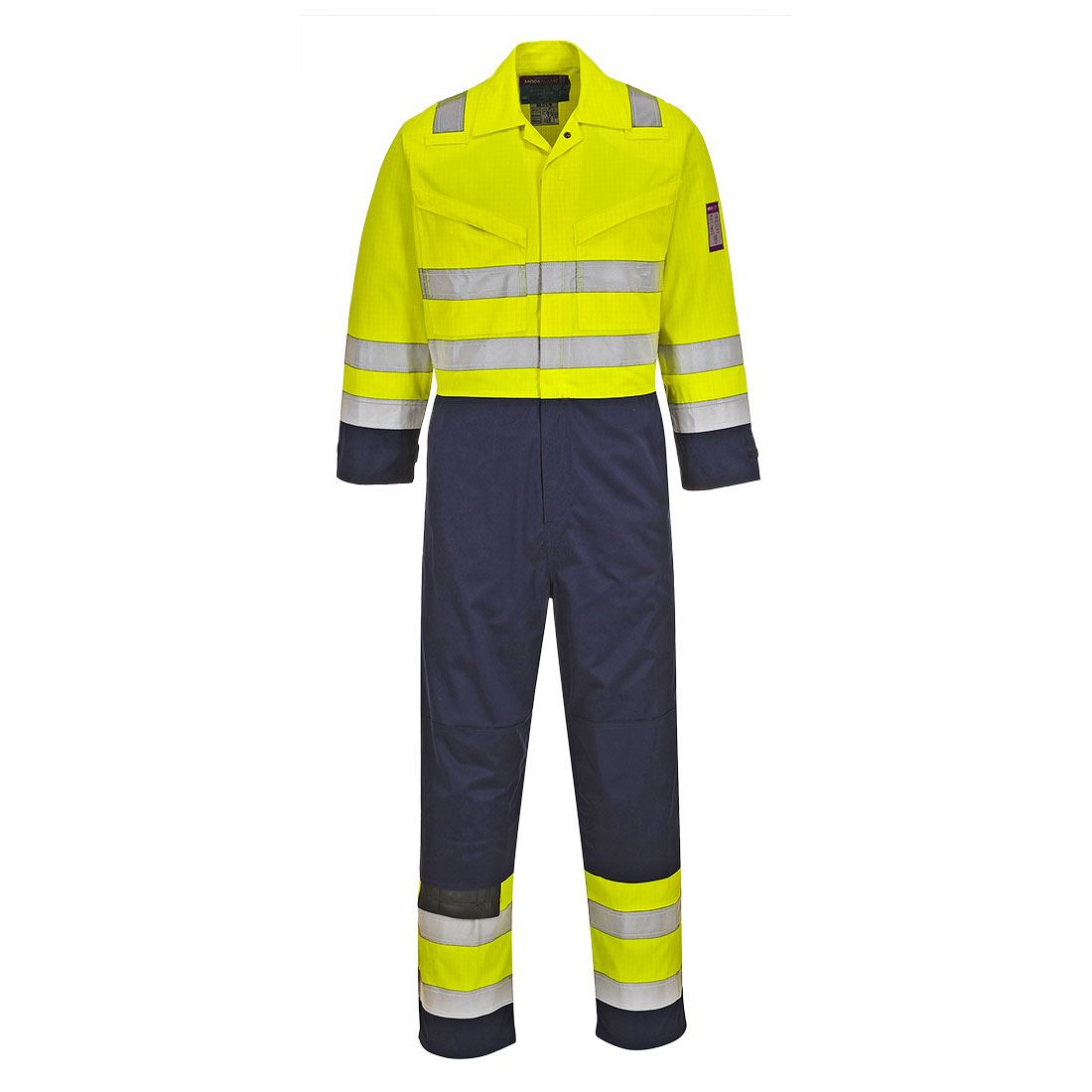 Hi Vis Modaflame Coverall Yellow/Navy MT