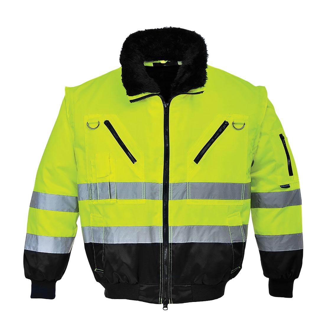Hi-Vis 3in1 Pilot Jacket Yellow/Black MR
