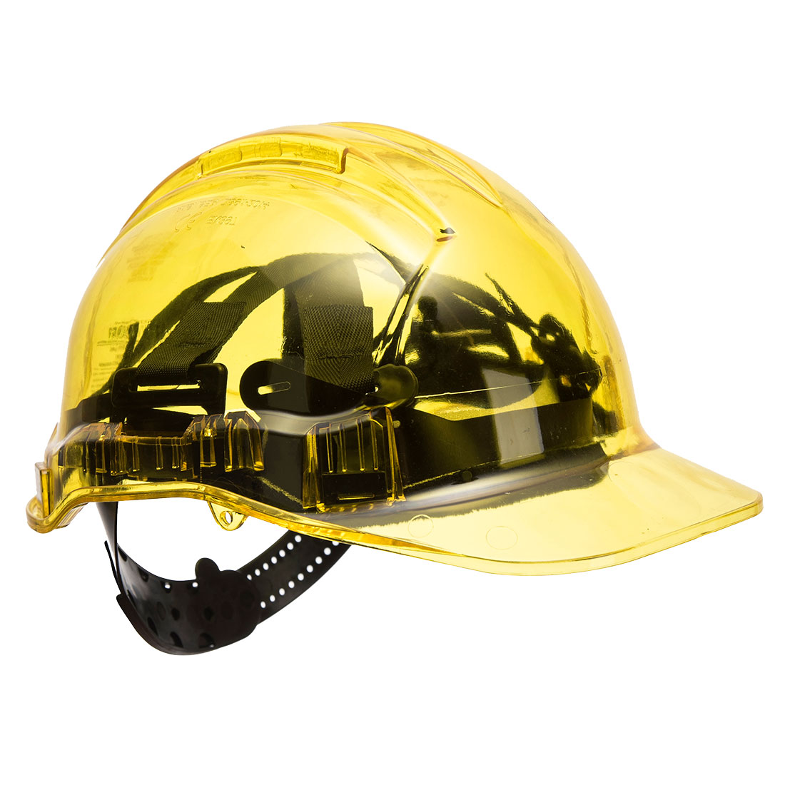 Peak View Plus Helmet Yellow