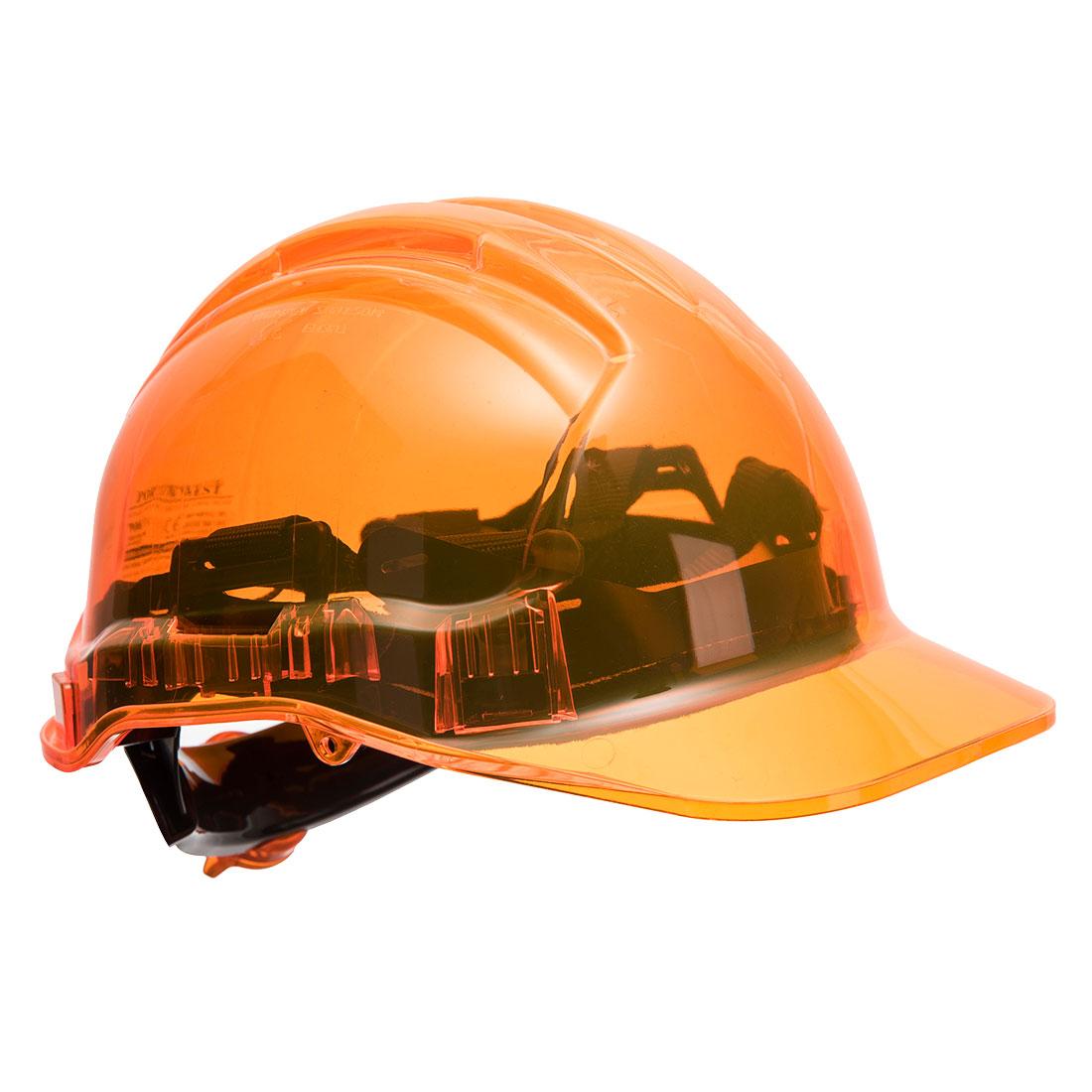 Peak View Ratchet Hard Hat Orange