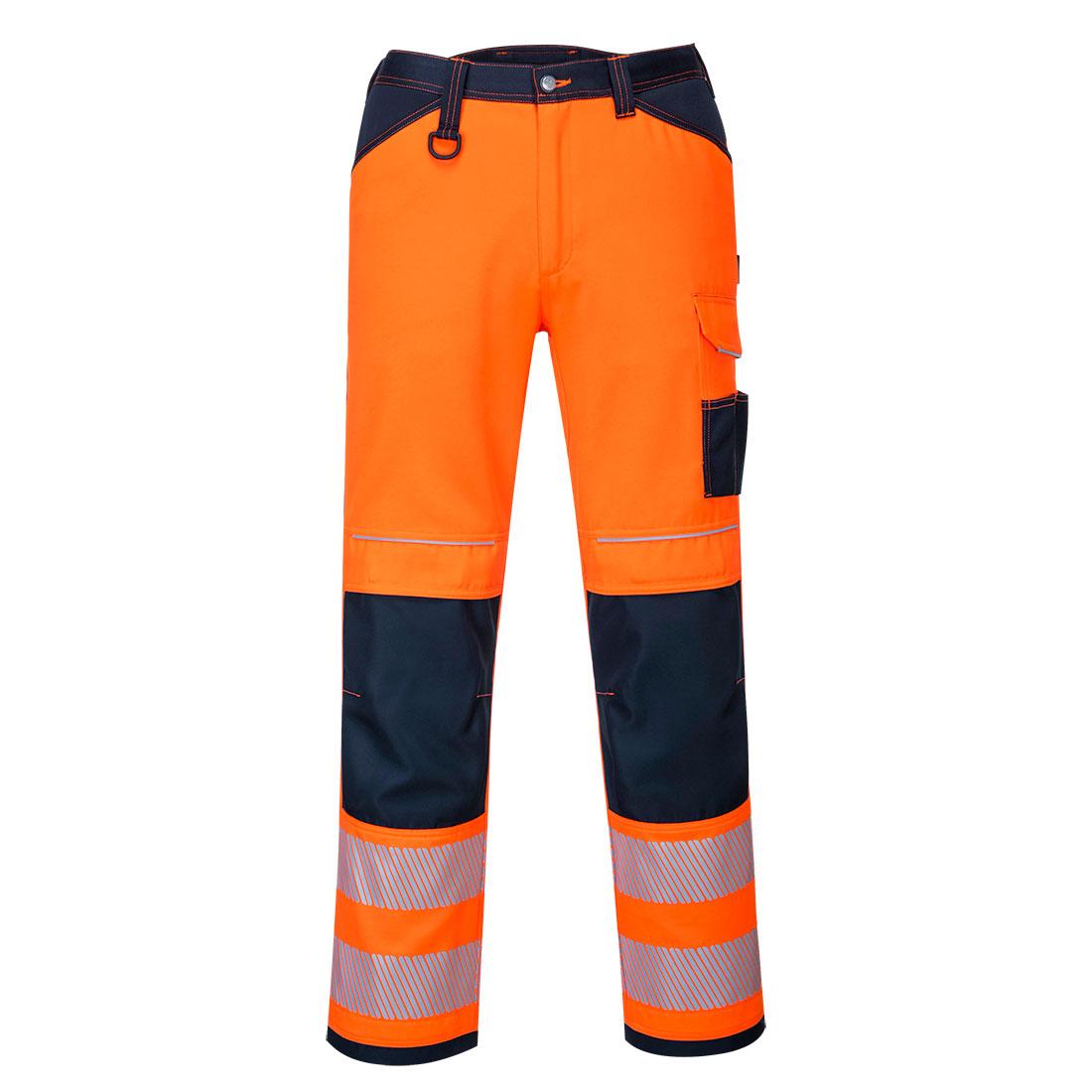PW3 Hi-Vis Work Trousers Orange/Navy 41R