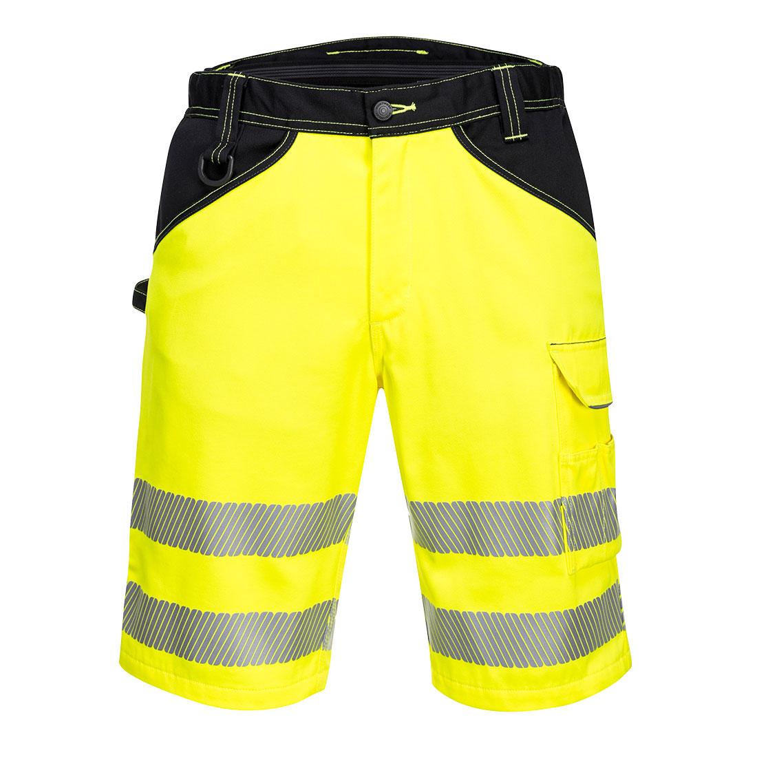 PW3 Hi-Vis Shorts Yellow/Black 34R