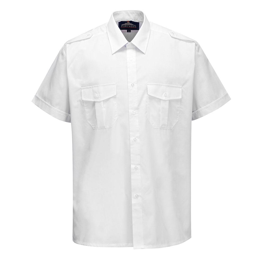 Pilot Shirt Short Sleeve White 185R