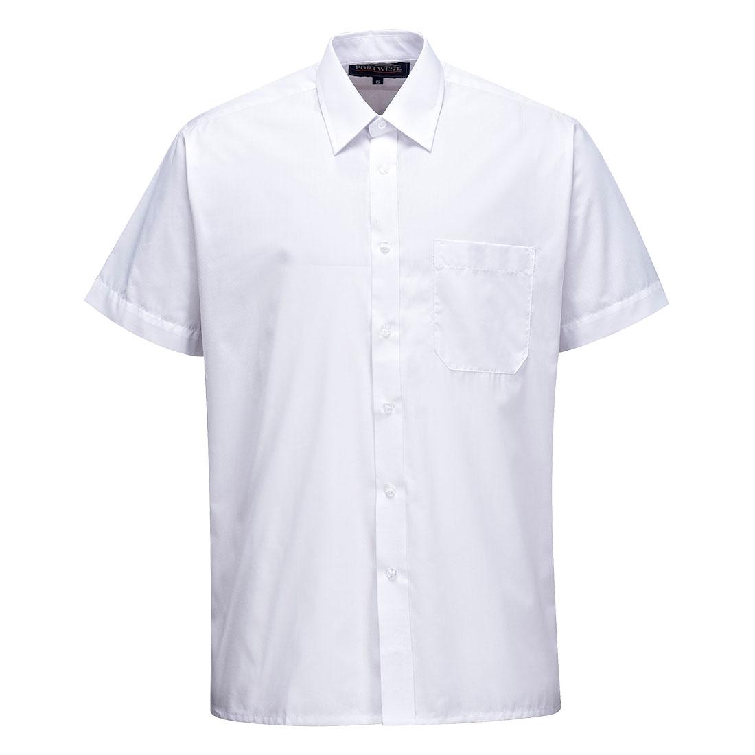 Classic Shirt Short Slv. White 185R