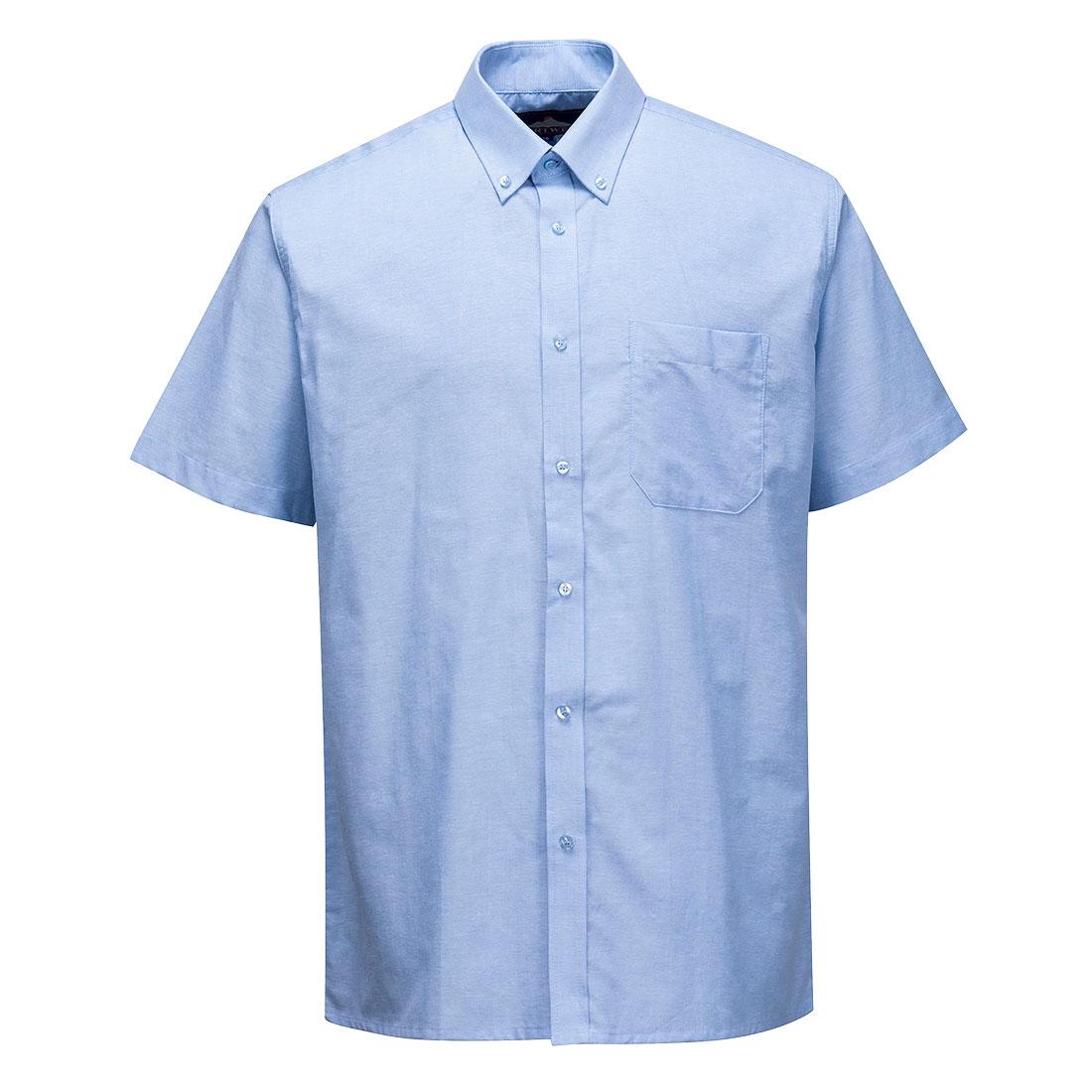 Oxford Shirt Short Sleeve Blue 200