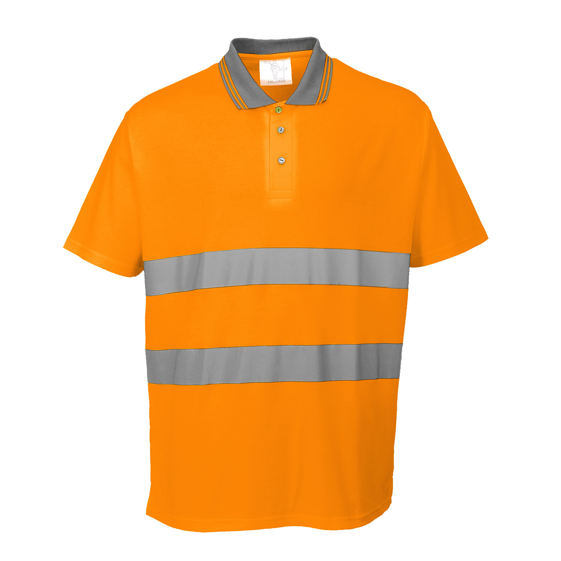 Cotton Comfort Polo Shirt Orange XLR