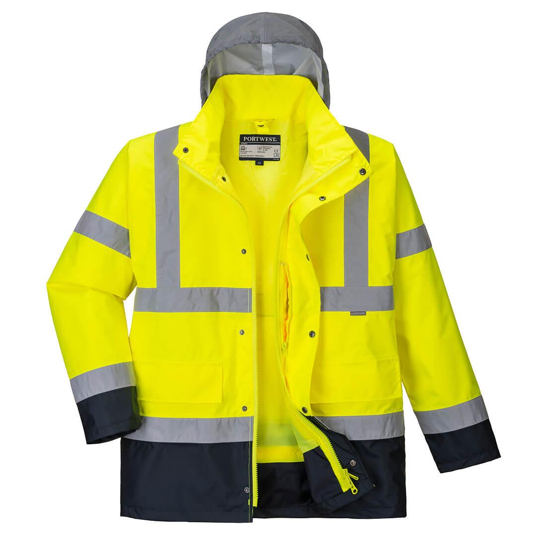 Hi-Vis 4in1 Contrast Jacket Yellow/Navy XLR