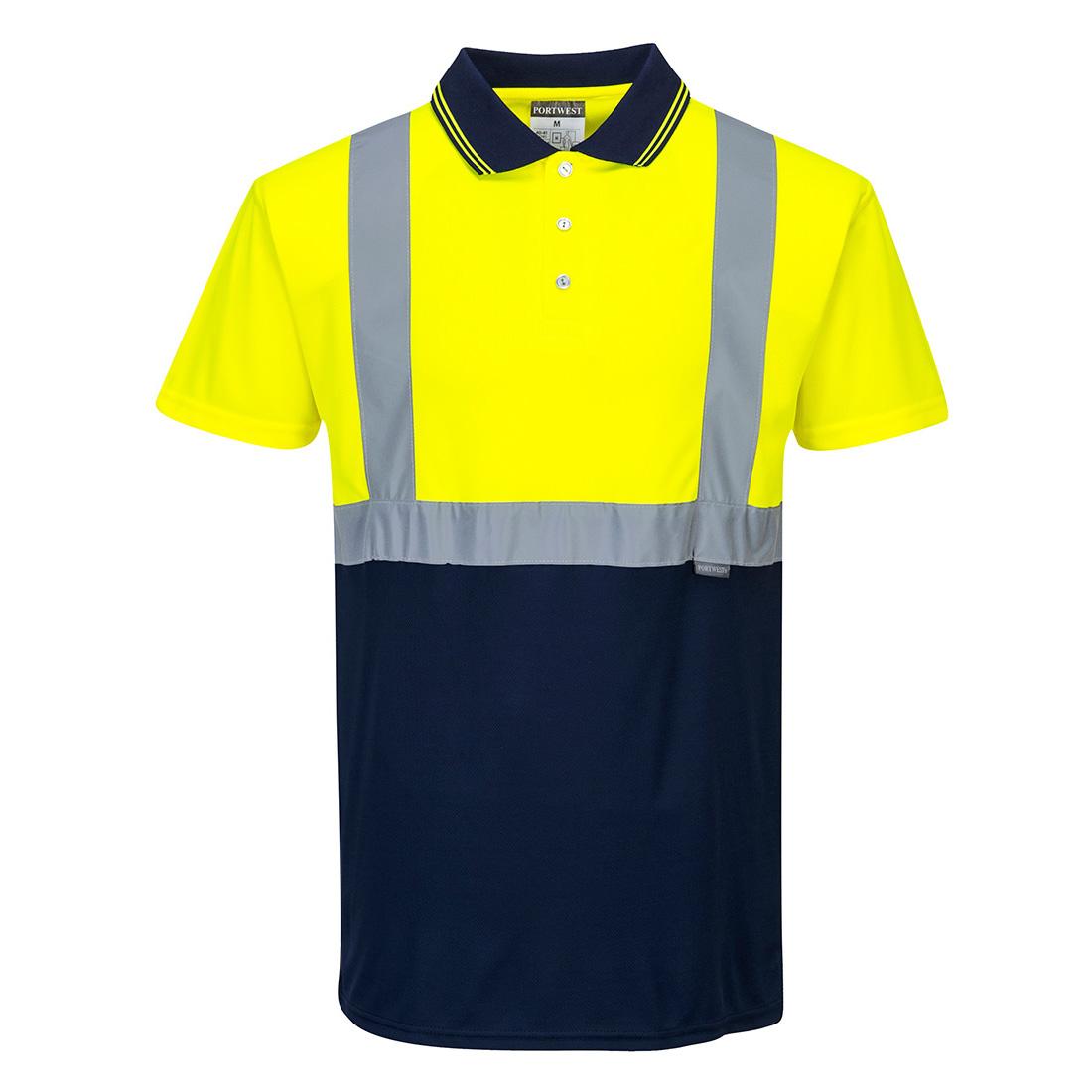 Hi-Vis 2-Tone Polo Shirt Yellow/Navy 5XLR