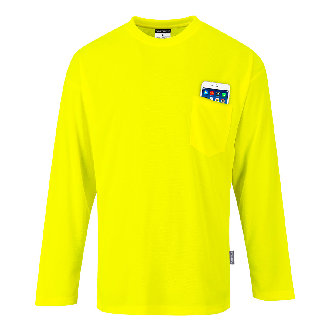 Long Sleeve Pocket T-Shirt Yellow LR