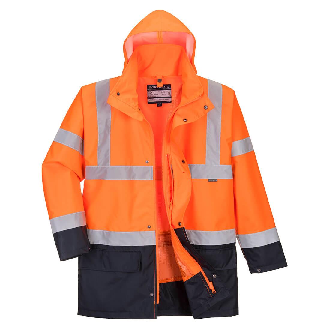 Essential 5in1 Hi-Vis Jacket Orange/Navy XLR