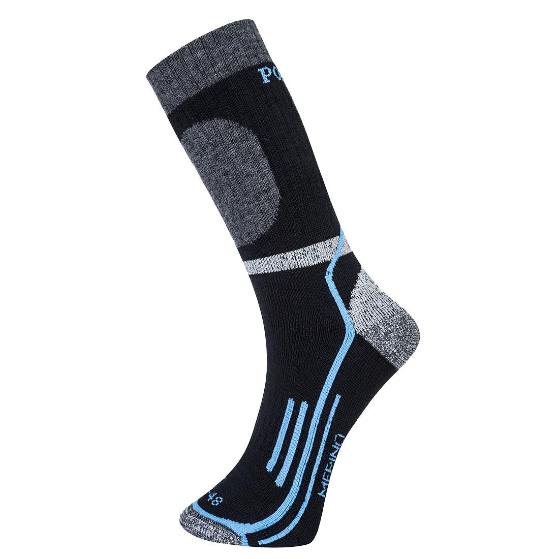 Winter Merino Sock Black 44-48R