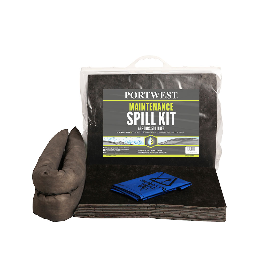 Spill Maintenance Kit 20L  Pk6 Grey