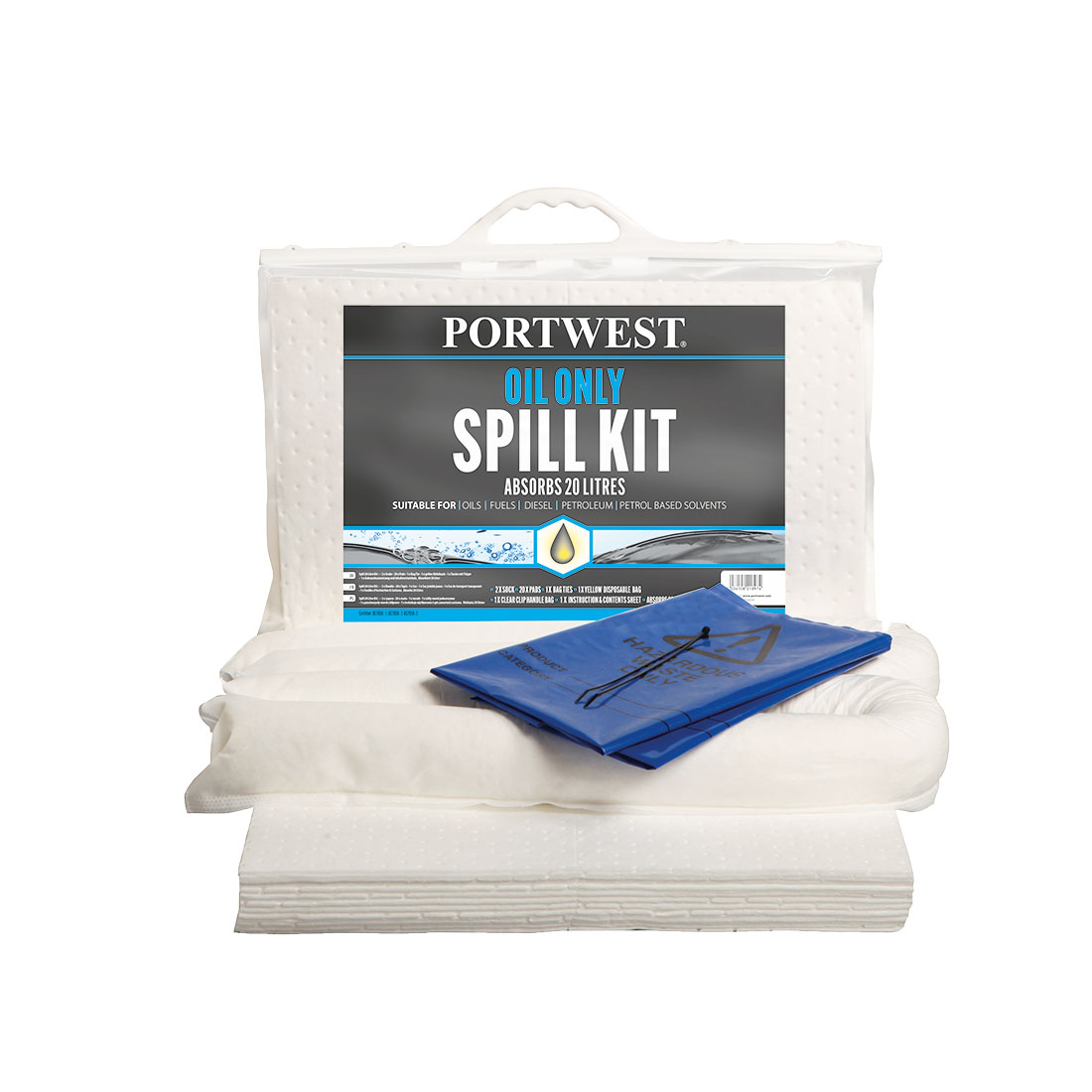 Oil Only Spill Kit 20L  (Pk6) White