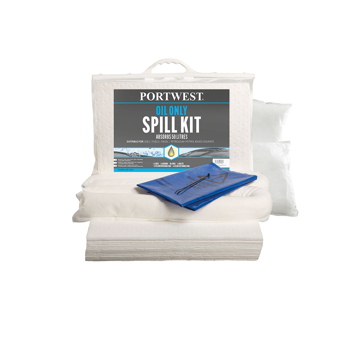 Oil Only Spill Kit 50L  (Pk3) White