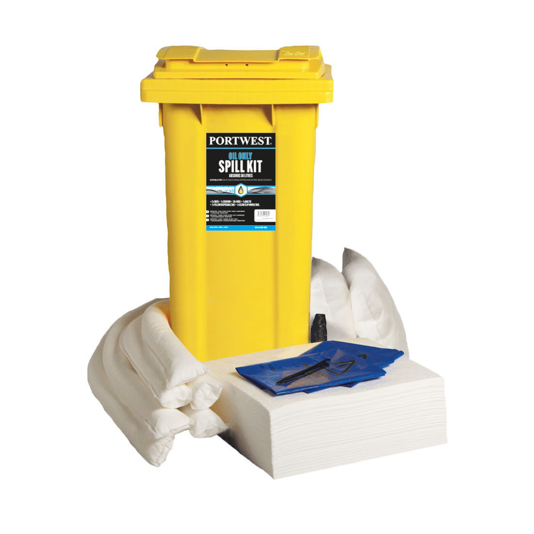 Spill 120L Oil Only Kit White