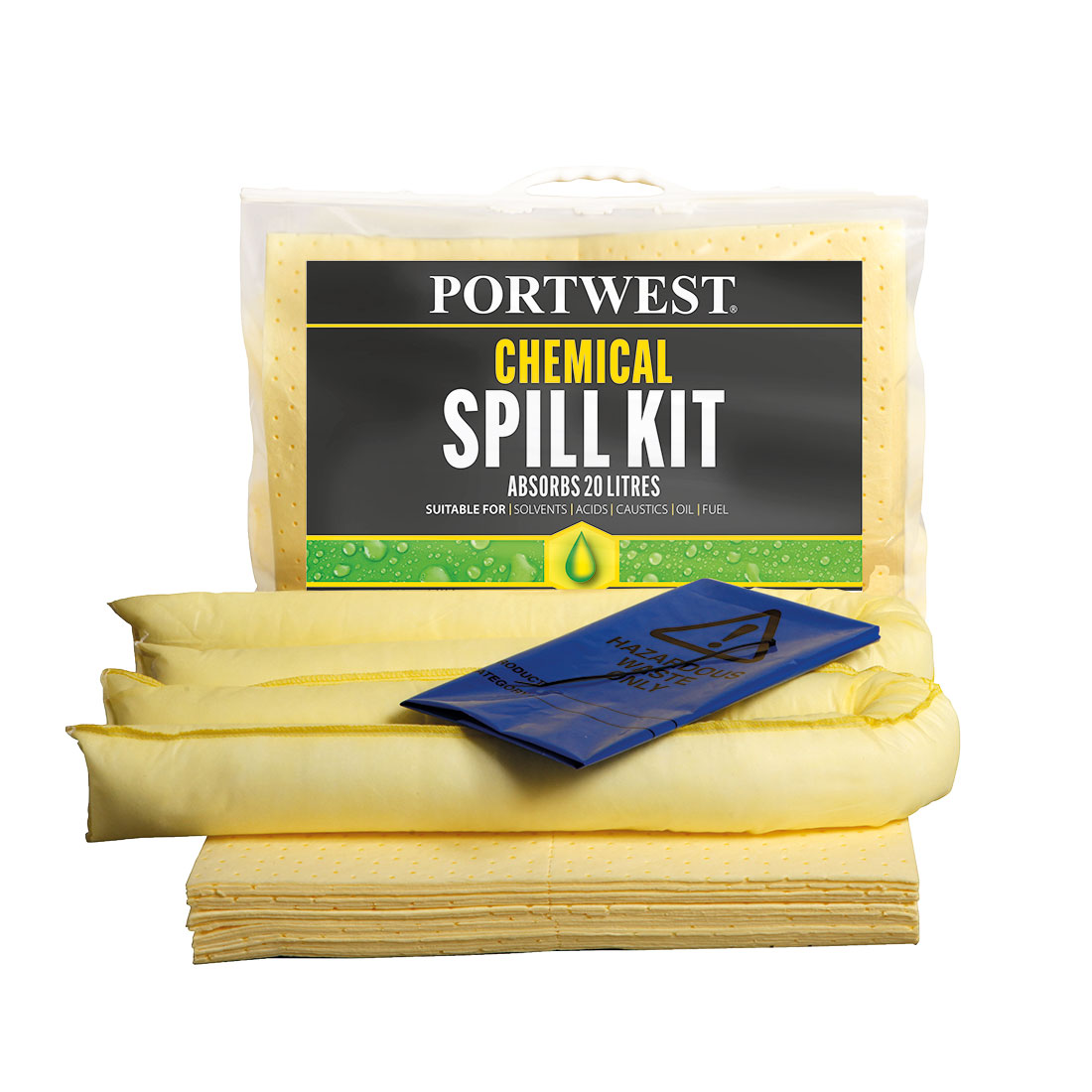 Spill Chemical Kit 20L  (Pk6) Yellow