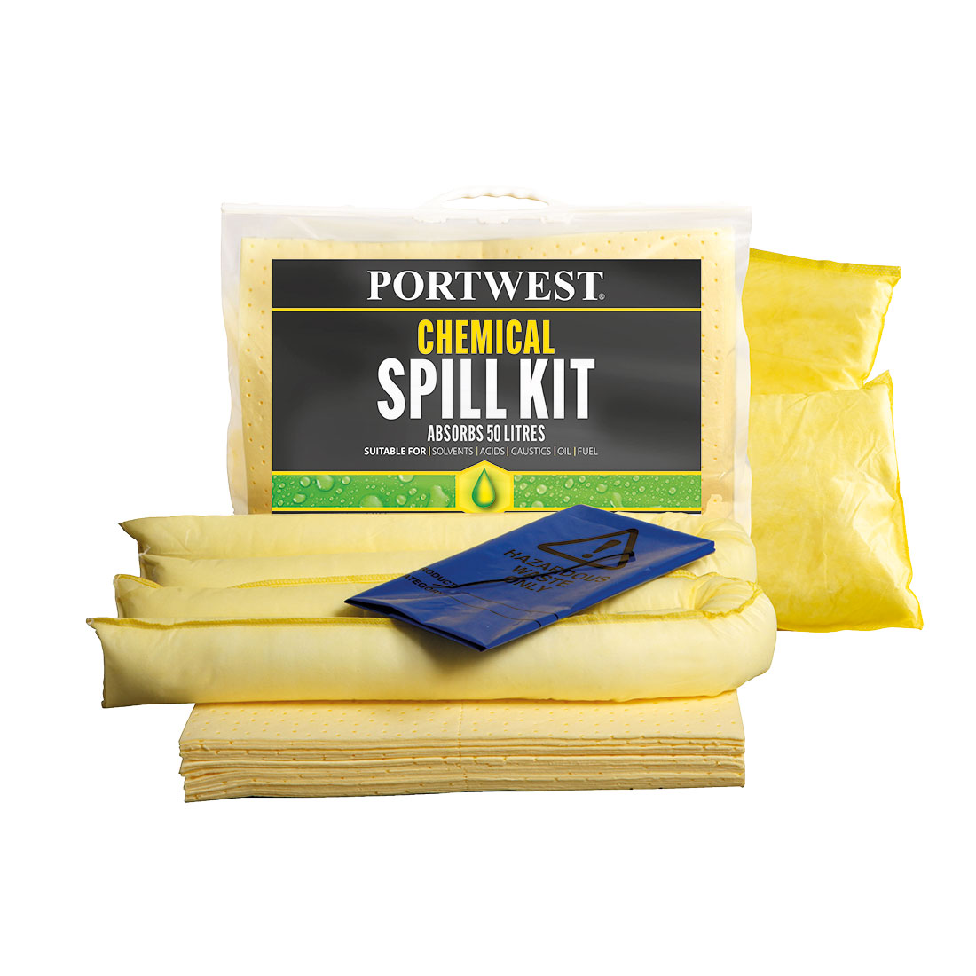 Spill Chemical Kit 50L  (Pk3) Yellow