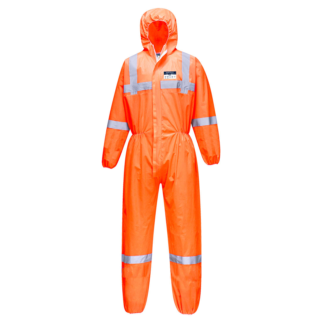 Hi-Vis SMS Coverall  (50pc) Orange MR