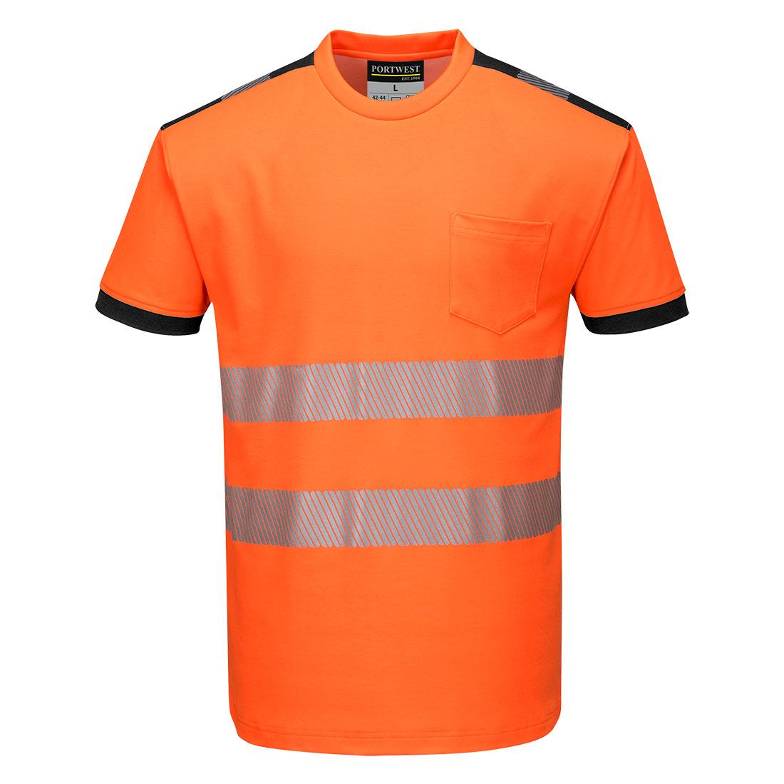 PW3 Hi-Vis T-Shirt  S/S Orange/Black 4XLR