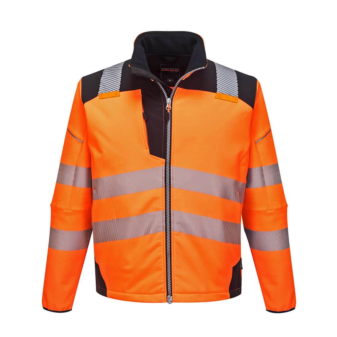 PW3 Hi-Vis Softshell Jacket Orange/Black XLR